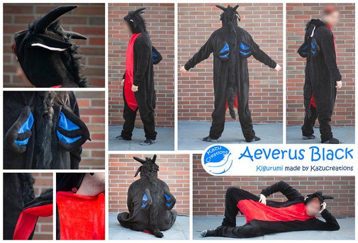 Aeverus Black Kigurumi